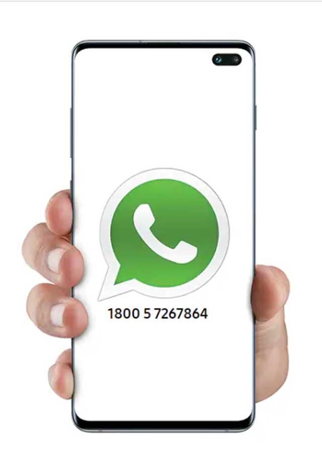 samsung customer support whatsapp number