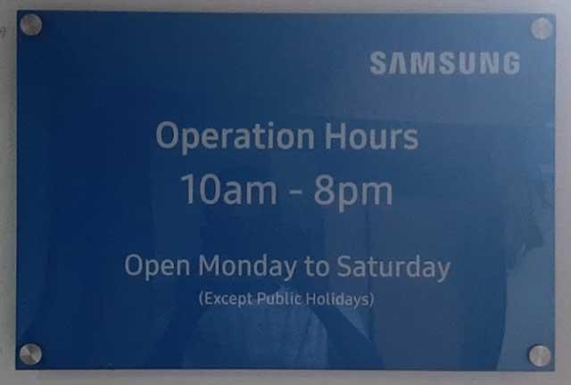 Samsung service center Dhanbad timing