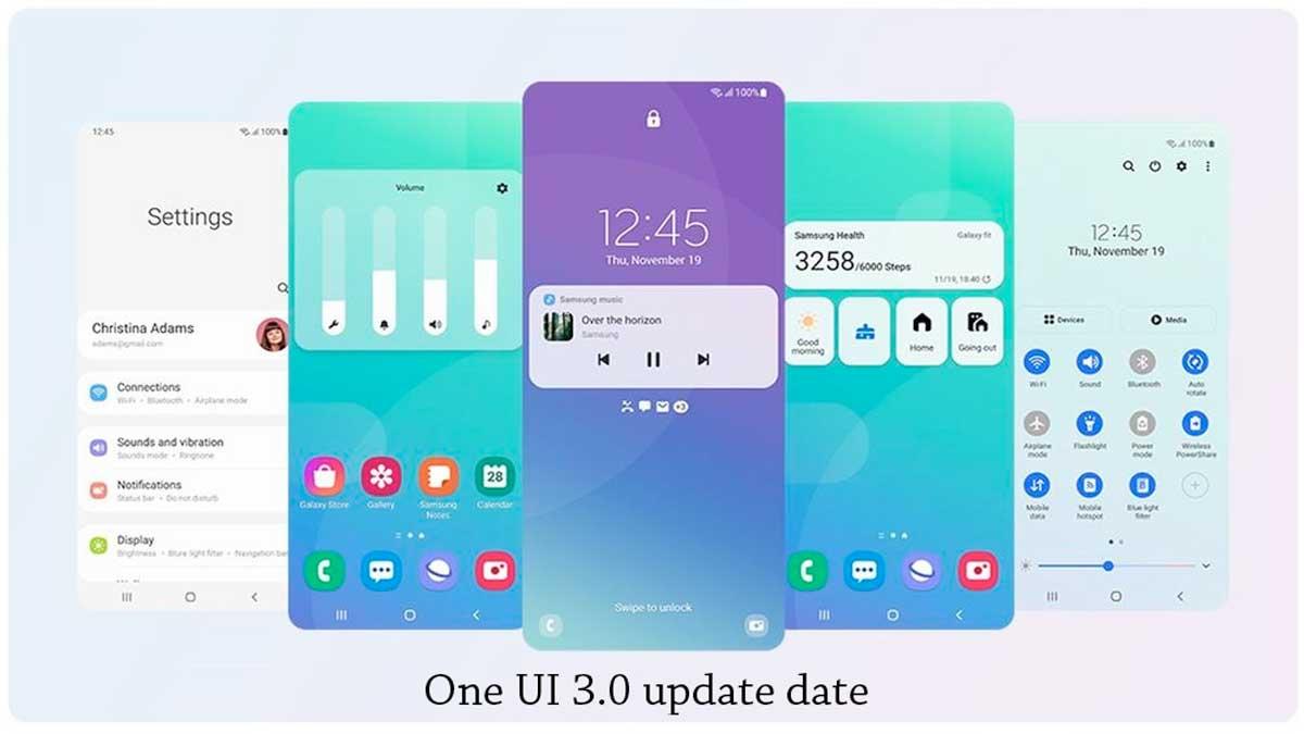 samsung one ui 3.0 update date